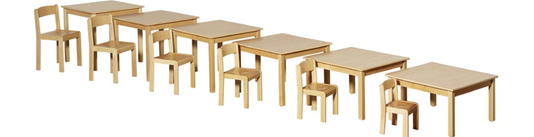 Kindergartentische Holztische Kunststofftische Kita Tische Krippenische
