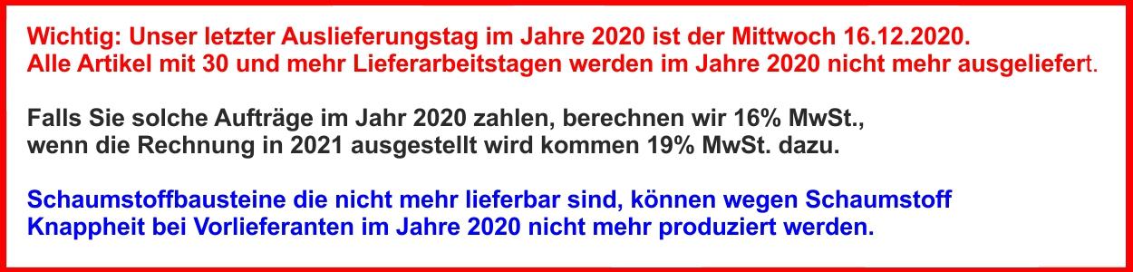 Lieferungne  2020 und 2021